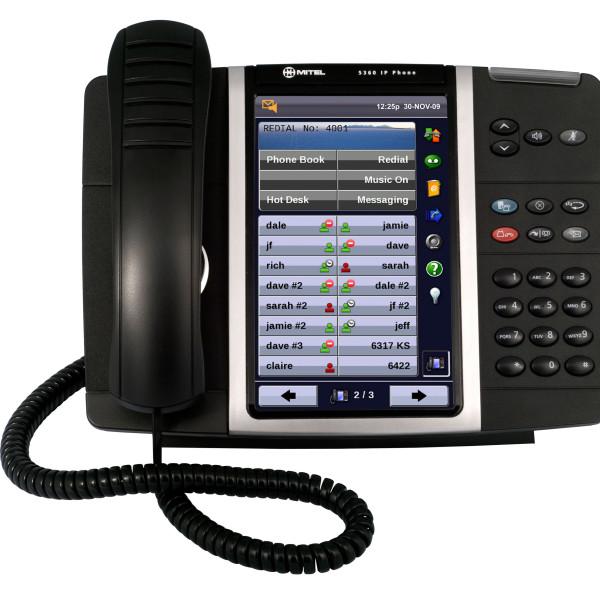 Mitel touch screen
